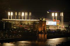 Home of the Cincinnati Reds (MLB) (ucumari photography) Tags: ucumariphotography cincinnati ohio april 2017 reds baseball night dsc1377 bridge