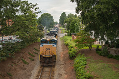 ACe'd Out (ajketh) Tags: csx csxt freight train sd70ace railroad emd q614 manifest small town waxhaw nc north carolina aex sw1500 es44ah general electric ge sd502 charm bustling quiet muggy warm summer evening 4838