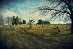 Cemetery and Country Church (Dave Linscheid) Tags: cemetery texture textured spring watonwancounty mn minnesota usa jesuschrist death eternallife christian faith religion toolwizphotoeditor church
