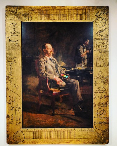 Thomas Eakins painted his professor (1897). Check out the frame!!