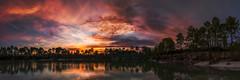 Coucher de soleil au Lac bleu (10/04) Tags: coucherdesoleil lacbleu panoramique panorama