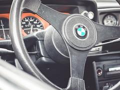 In Car Textures (Pixelglo Photography) Tags: bmw car steeringwheel vintage retro vehicle inside cabin wheel badge bmwlogo speedometer speedo
