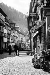 Heritage Lane (mripp) Tags: art kunst heritage kulturerbe street strase stadt city urban fachwerk timberframed europe europa black white mono monochrom leica m1 summicron 50mm