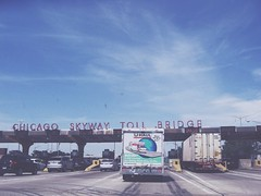 Chicago SkyWay Toll Bridge (Mindless Expressions) Tags: chicago skyway bridge urban world illinois city cityview detail exposure bright sky love travel people summer new car