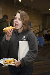 Hot Dog Study Break_051213_0001 (Luther College _ Photo Bureau) Tags: dog hot college zach spring student break towers miller study finals week zachary professor professors volunteer faculty semester luther volunteerism 2013 dieseth stottler 20122013
