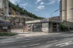 Einfahrt (daknoll) Tags: old abandoned industry concrete factory decay fabrik cement explore forgotten forsaken crusty urbex zement kaltenleutgeben daknoll