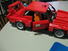 Opening door (LegoSamBo) Tags: silhouette skyline nissan lego super