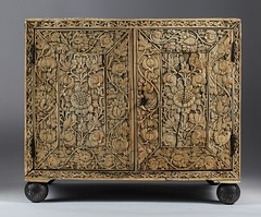 "Mughal_Carved_Ivory_and_Tortoiseshell_Veneered_Cabinet_17th_Century_A3BCA_18858_A • <a style=""font-size:0.8em;"" href=""http://www.flickr.com/photos/92426936@N05/8769950085/"" target=""_blank"">View on Flickr</a>"