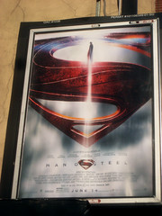 Man of Steel - New Superman Billboard theater Poster 0321 (Brechtbug) Tags: street new york city nyc blue red man work dark comics painting movie poster square book dc paint theater comic near steel character alien bat working broadway s superman billboard advertisement adventure hero superhero billboards knight worker shield times insignia krypton 46th 2013