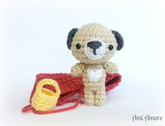 Little Red Riding Hood Pup (denae.amiamore) Tags: cute animals stuffed handmade crochet adorable plush yarn plushies kawaii amigurumi