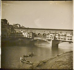 Italy, Bridge at Ponte Vecchio Florence c1910 L (AndyBrii) Tags: camera italy stereo richard 1910 viewer slides 1908 transparencies verascope taxiphote