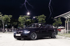 BMW M3 E90 (- Icy J -) Tags: park blue black night dark hongkong lights mod inch hong kong bmw rays 18 m3 rims v8 jerez e90 re30
