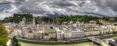 Panorama Salzburg [DE] (ta92310) Tags: travel panorama salzburg art austria spring europe gothic unesco mozart flamboyant hdr autriche salzbourg 2013