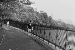 run and rain 4 (zoolien) Tags: leica blackandwhite bw usa newyork rain noiretblanc centralpark manhattan run nb m9