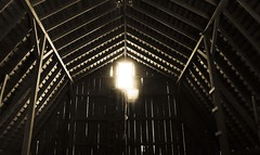 (AlexandraLynn) Tags: old geometric window lines barn farm flare