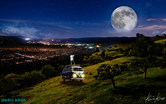 The Photographer, the Kombi and the Super Moon (Kris Kros) Tags: moon night photoshop super kris hdr kkg photomatix kros kriskros 2013 supermoon hdrunleashed