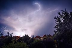 Thunder Storm (Pierre Pocs) Tags: city sky storm night garden flash lightning magyar thunder ungern 2013 hungarey