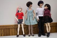 7/13 CCDC Doll Meet (goldigoldi) Tags: up kid doll sd bjd volks soom delf comparison fairyland meet abjd height msd jid yosd minifee iplehouse