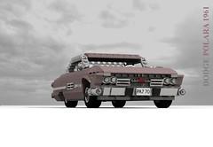Dodge Polara Hardtop - 1961 (lego911) Tags: auto usa classic car model lego render chrome dodge 1960s chrysler 69 challenge v8 fins 1961 cad lugnuts povray moc polara ldd miniland summerof69 lego911