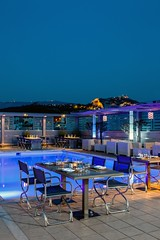 St Astra Blue roof garden-Radisson Blu Park Hotel Athens (Radisson Blu Park Hotel Athens) Tags: city roof summer urban mars nature caf pool field museum bar dinner forest silver menu sushi asian lunch restaurant hotel gallo oak italian bath rooms estate view hill central meeting center athens steam parthenon business atlantis exhibitions event pla