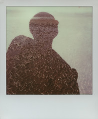 Looking out at the ebbing tide (gliesh) Tags: polaroid doubleexposure ironman tip slr680 anotherplace crosbybeach gapc gapdp integralfilm incameradouble impossibleproject impossibleprojectfilm px680