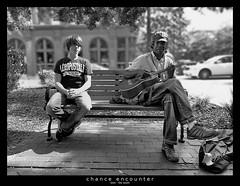 chance encounter (<rs> snaps) Tags: friends boy men bench guitar blurred encounter notphotoshopped guitarplayer aeropostal chanceencounter urbanarte reneschlegel