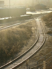 "Railway in evening sun • <a style=""font-size:0.8em;"" href=""https://www.flickr.com/photos/91194669@N00/9364807857/"" target=""_blank"">View on Flickr</a>"