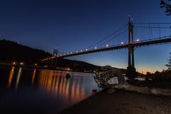 Saint Johns Bridge night (Brook Terwilliger) Tags: bridge saint night oregon portland brook johns terwilliger speedlite