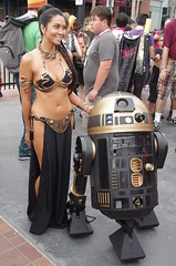 SDCC 2013 - JPEG 0867 (Photography by J Krolak) Tags: california cosplay princessleia masquerade comiccon droid leia sdcc slaveleia leiasmetalbikini sdcc2013