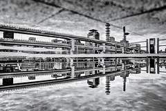 Kobe after the Rain (Ilko Allexandroff / ) Tags: bw white black reflection kobe reverse  allex  ilko