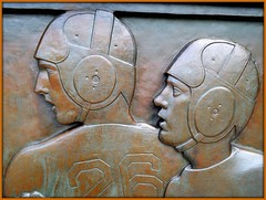Cranbrook School: Detail, Bas Relief Near Football Field (pinehurst19475) Tags: sports bronze football athletics michigan sculptor basrelief davidevans bloomfieldhills oaklandcounty nationalhistoriclandmark nationalregister nationalregisterofhistoricplaces cranbrookschool sculpturalrelief mihistoricsite cranbrookkingswoodschool cranbrookschoolforboys nrhpdistrict73000954