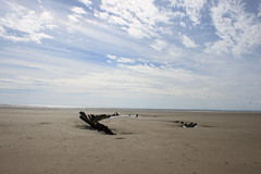 Wreck (aitch tee) Tags: sky beach weather clouds boat sand shipwreck bigsky pembrey scenicview cefnsidarbeach