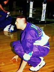 Greg Ostertag Utah Jazz NBA Photos 1998 (Philip Osborne Photography) Tags: nba 1998 hornets charlotte photos medium format coliseum fuji ga645z gregostertag