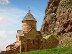 Surp Karapet church, 1227 (Tiigra) Tags: travel church rock architecture village 2006 spire armenia noravank areni vayotsdzor