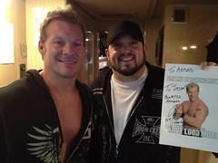 Chris Jericho signs his autograph for Jason Marchewka... on a Heelbook meme.