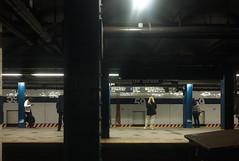 Light in the subway (Susan NYC) Tags: nyc newyorkcity subway waiting ss platform 59thstreet