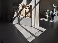 Ancient Sun Worshipers (Trish Mayo) Tags: sculpture art museum shadows metropolitanmuseumofart metmuseum ancientart noncoloursincolour greekandromangalleries thebestofday gününeniyisi