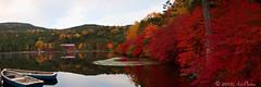T h e r e I s N o M e (AnthonyGinmanPhotography) Tags: panorama boats pond autumncolours naganoprefecture novoflex shirakomaike sakuho olympuse620