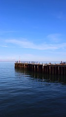 Blue morning (NovemberAlex) Tags: water pier kent seaside harbour whitstable
