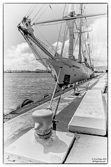 Robert C. Seamans (Konaflyer) Tags: blackandwhite robert sailboat hawaii nikon sailing ship c line honolulu ssv seamans brigati
