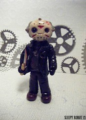 Friday The 13th Robot 1 (Sleepy Robot 13) Tags: cute robot diy handmade robots polymerclay fimo comicbook kawaii sculpey etsy urbanvinyl marvel sculpting smallbusiness sleepyrobot13 polymerclayurbanvinylsleepyrobot13etsysilvercraftcraftscraftingsculptingsculpturefigurinearthandmadecraftshowcutekawaiirobots