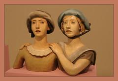 Karel Dvok (1893-1950) Girlfriends, 1924, polychromed fired clay (Sergei P. Zubkov) Tags: november sculpture art czech prague kunst praha fair palace trade 2011 palc veletrzn