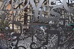 """""""Self-portrait"""" (2013), Jaume Plensa, place Camille-Julian, Bordeaux, Gironde, Aquitaine, France. (byb64) Tags: sculpture selfportrait france frankreich europa europe 33 bordeaux eu bowl unescoworldheritagesite unesco escultura alphabet francia boule lettre ue lecteur acero plensa acier jaumeplensa aquitaine gironde aquitania burdeos 2013 camillejulian akitania gironda aquitanien"""