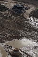 Last Man Standing (jadzia0410) Tags: brown black texture water rust mud earth frankfurt manhole sewer scar liquid yojimbo akirakurosawa