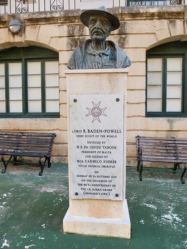 Statue de Baden-Powell, Sliema, Malte