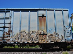 LACK (YardJock) Tags: graffiti container spraypaint boxcar freighttrain railwaytracks rollingstock intermodal