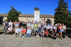 Group shot at Servigliano  DAY ONE WALK