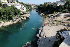 neretva in mostar  (cyberjani) Tags: bridge river mostar bosnia neretva