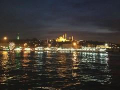 Uitzicht Istanbul 's nachts