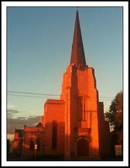 Anglican Church (florahaggis) Tags: light sunset clouds sunrise australia victoria storms horsham pc3400